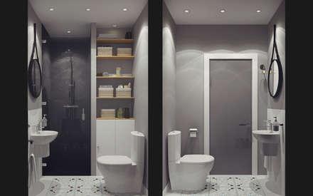 Apartment in Otrada estate: modern Bathroom by Ksenia Konovalova Design