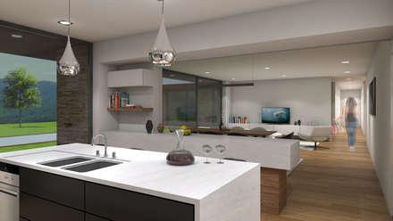 Casa da Venda: Cozinhas modernas por Miguel Zarcos Palma
