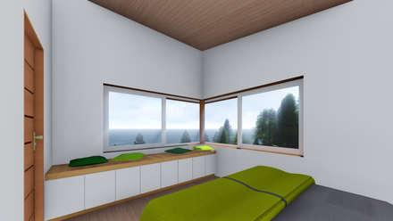 REFUGIO LR: Dormitorios de estilo moderno por EjeSuR Arquitectura