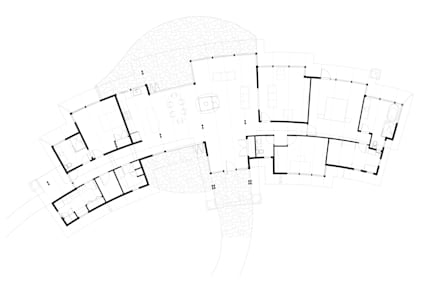 Arbutus House - Floor Plan: modern Houses by Helliwell + Smith • Blue Sky Architecture