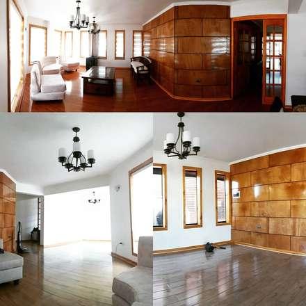 Remodelacion completa de interior: Pasillos y hall de entrada de estilo  por ARQUITECTURA E INGENIERIA PUNTAL LIMITADA
