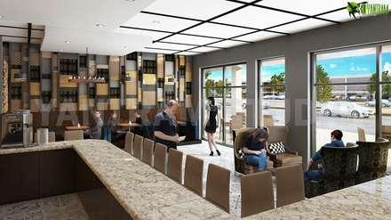 Una cafetería completa y completa - Bar con diseño interior hermoso: Bares y Clubs de estilo  de YANTRAM ANIMACIÓN