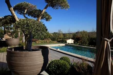 //Aix en provence//Jardin Déco: Piscines  de style  par CONCEPTUELLES PAYSAGE ET DECORATION