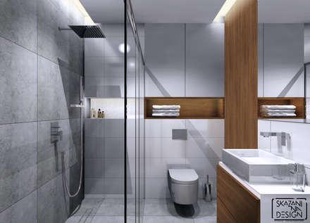 PROJEKT ŁAZIENKI OK. 4m2: styl , w kategorii Łazienka zaprojektowany przez SKAZANI NA DESIGN Studio Architektury