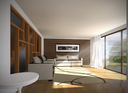 CASA NS: Livings de estilo mediterraneo por EjeSuR Arquitectura