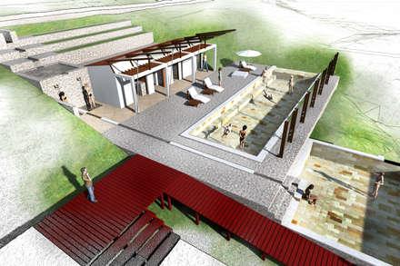 : Piscinas de estilo rural por Paz Ingenieros & Arquitectos