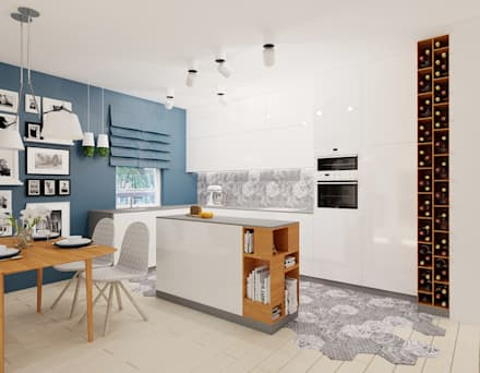Projekt mieszkania 76m2 w Będzinie - Namiarkowa : styl , w kategorii Kuchnia zaprojektowany przez Ale design Grzegorz Grzywacz