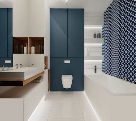 Baños de estilo moderno por Ale design Grzegorz Grzywacz