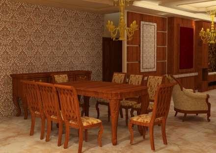 غرفة سفرة :  غرفة السفرة تنفيذ القصر للدهانات والديكور