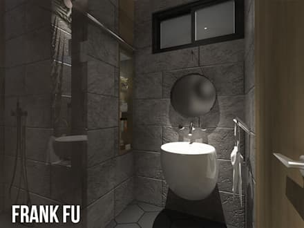 Villa in City:  浴室 by 中孚 設計 / FRANKFU INERIOR DESIGN
