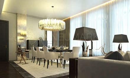 Apartment on Tverskaya Street, Saint-Petersburg: Столовые комнаты в . Автор – NEUMARK
