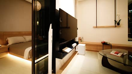 BRAVO INTERIOR DESIGN & DECO    NEW JP STYLE:  影音室 by 璞碩室內裝修設計工程有限公司