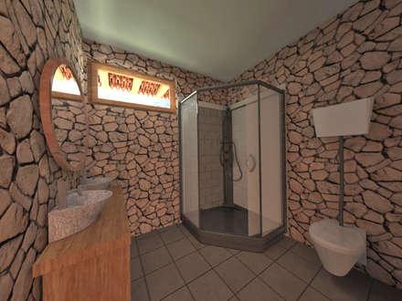 Casa de Campo en Jayanca: Closets de estilo rústico por ROQA.7 ARQUITECTOS
