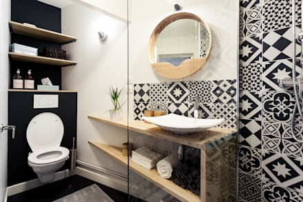 salle de bain scandinave id es inspiration homify. Black Bedroom Furniture Sets. Home Design Ideas