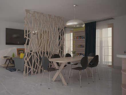 Progetto di Interior Design : Sala da pranzo in stile in stile Scandinavo di Teresa Lamberti Architetto