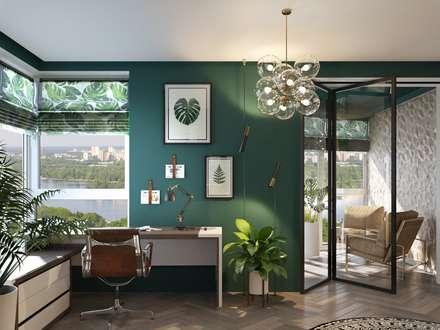 Colorful and bright apartment: Рабочие кабинеты в . Автор – Zikzak Design Studio