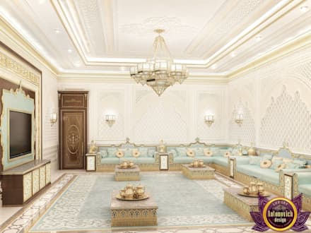 Majlis interior design of Katrina Antonovich: classic Living room by Luxury Antonovich Design