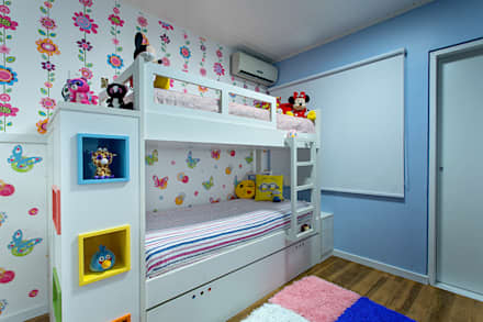 eclectic Nursery/kid's room by Milla Holtz Arquitetura