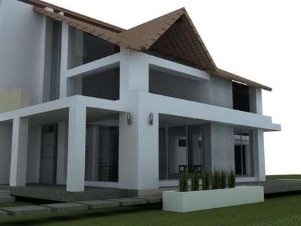 Casa campestre Chinauta: Casas de estilo tropical por no aplica