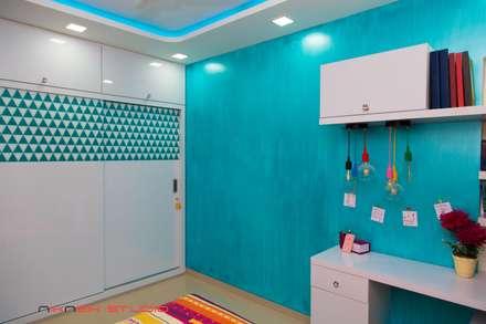 modern Nursery/kid's room by Nikneh Design studio