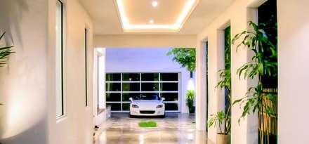 Organic Modern: modern Garage/shed by Jaju Design & Development