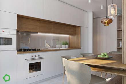 Myalik apartment: Кухни в . Автор – Polygon arch&des