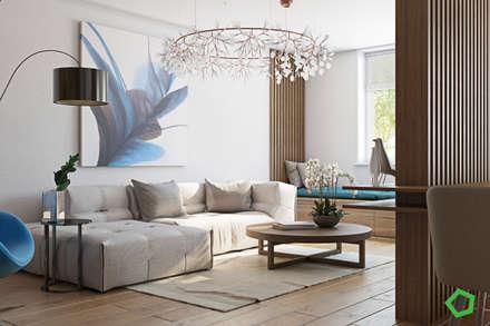 Myalik apartment: Гостиная в . Автор – Polygon arch&des