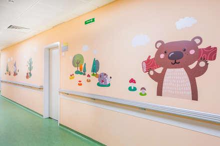 Оформление стен детского эндокринологического центра . Коридор: Больницы в . Автор – 33dodo