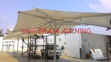 Tenda membrane di ruang publik:  Taman by Braja Awning