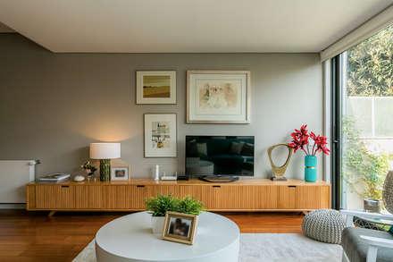 Sala de Estar: Salas de estar modernas por Franca Arquitectura