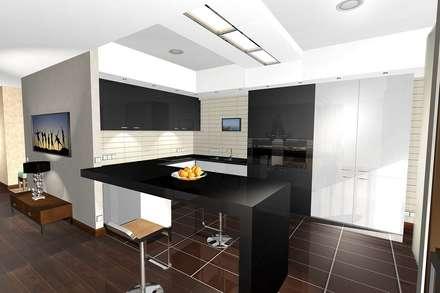 Квартира 100м2 в Одинцово: Кухни в . Автор – архитектурная мастерская МАРТ