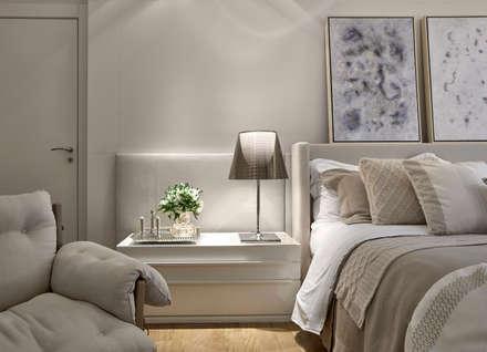 suite master: Quartos  por Alessandra Contigli Arquitetura e Interiores