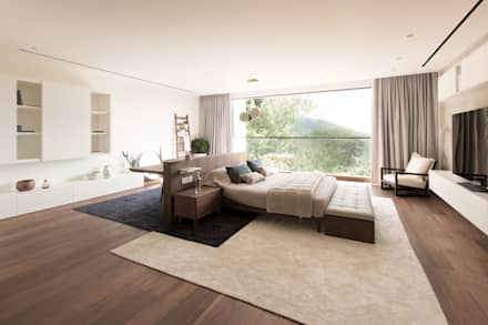 The King size bed: modern Bedroom by Sensearchitects_Limited