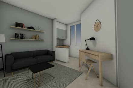 chambre indépendante: Chambre de style de style Moderne par Dem Design