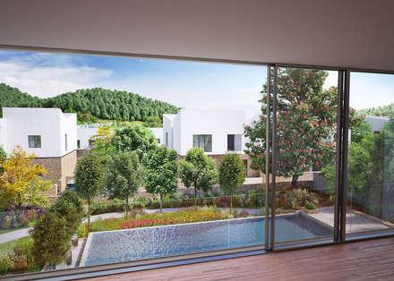 Villa Resort, Gabala, Azerbaijan: modern Pool by ÜberRaum Architects