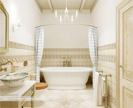 Дух Прованса: Ванные комнаты в . Автор – Design by Ladurko Olga