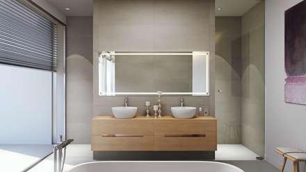 Olivo. Las Colinas. Marjal: Baños de estilo mediterráneo de GESTEC. Arquitectura & Ingeniería