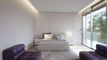 Olivo. Las Colinas. Marjal: Dormitorios de estilo mediterráneo de GESTEC. Arquitectura & Ingeniería
