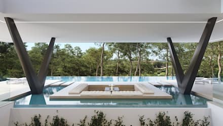 Olivo. Las Colinas. Marjal: Piscinas de estilo mediterráneo de GESTEC. Arquitectura & Ingeniería