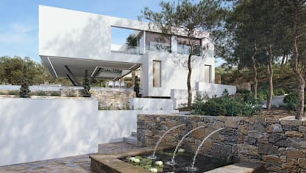 Olivo. Las Colinas. Marjal: Casas de estilo mediterráneo de GESTEC. Arquitectura & Ingeniería