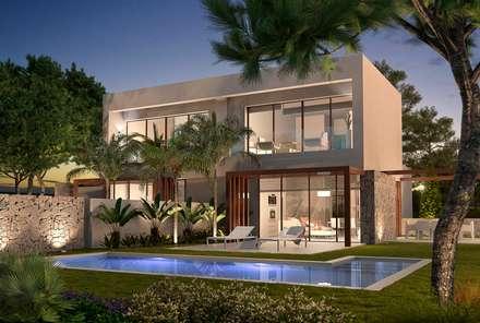 Acacia. Las Colinas. Marjal: Casas de estilo mediterráneo de GESTEC. Arquitectura & Ingeniería