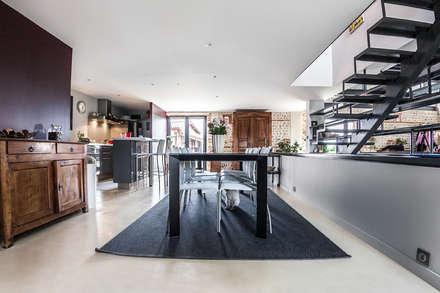 MAISON MAZERES: Salle à manger de style de style Moderne par Hugues TOURNIER Architecte