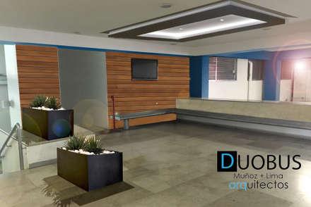 acceso estacionamiento.: Garajes de estilo moderno por DUOBUS M + L arquitectos