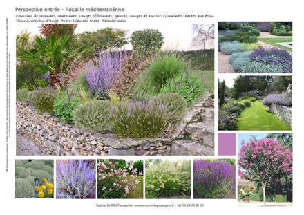 Jardin Minéral et Végétal (91): Jardin de style de style Méditerranéen par  Sophie Durin | Empreinte Paysagère