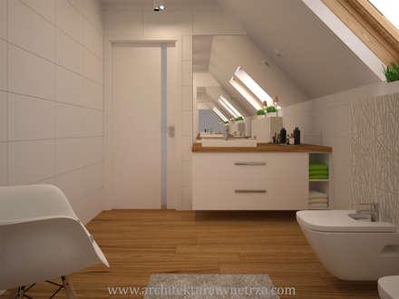 Łazienka: styl , w kategorii Łazienka zaprojektowany przez Projektowanie wnętrz Oliwia Drobnicka