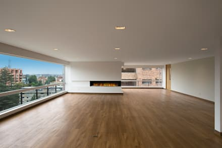 Apto Cll 7 - Cr 9: Salas de estilo moderno por Bloque B Arquitectos