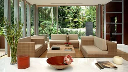 WHITEHOUSE PARK: Asian Living Room By HB Design Pte Ltd