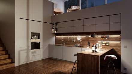 Störmer Range: minimalistic Kitchen by Hehku