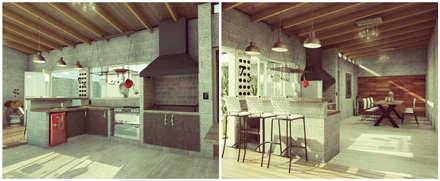Quincho / Garage: Comedores de estilo moderno por VI Arquitectura y Diseño Interior