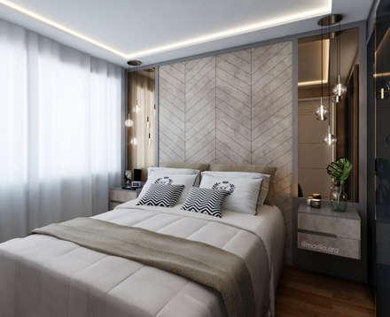 scandinavian Bedroom by Marilia Zimmermann Arquitetura e Interiores
